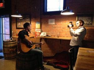 Brent Shirey from Valentiger playing at Mitten Brewing Co. for the 2013 BeerCity Music Series.