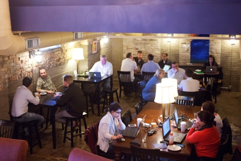 The lower level of Lantern Coffee Bar & Lounge offers a variety of options for customers. Photo by Matt Radick